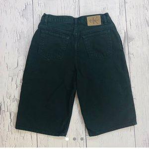 Vintage Calvin Klein Forest green denim shorts 16
